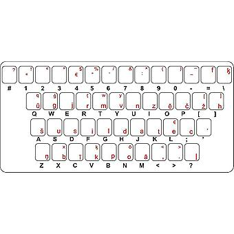 Sticker Sticker Keyboard Alphabet Letter Computer Macbook Latvia