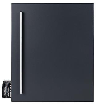 Caixa MOCAVI 110R Design caixa de correio com compartimento de jornal antracito-cinza (RAL 7016)