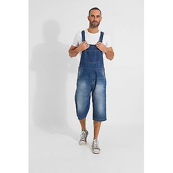 Christopher loose fit pantaloncini in denim dungaree