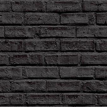 Czarny cegła tapeta Arthouse 623007