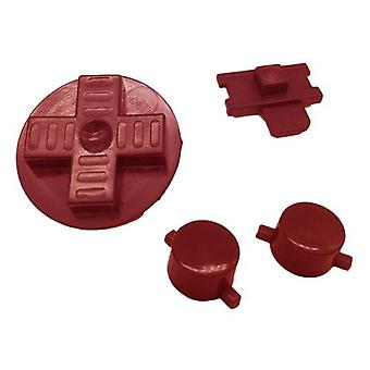 Replacement button set a b d-pad power switch for nintendo game boy original dmg-01 - red