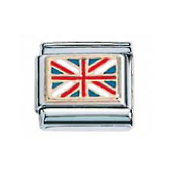 ZOPPINI S.Steel Flag-UK Charm