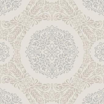 Pearl damast behang bloemen motief metallic glitter Shimmer Arthouse Timour