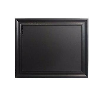 Rectangular Wooden Chalkboard with Beveled Edge Frame, Black