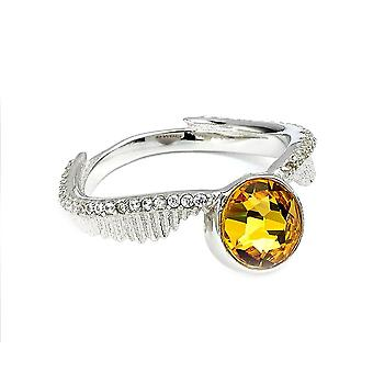 Harry Potter Swarovski kristaller gyllene Snitch ring