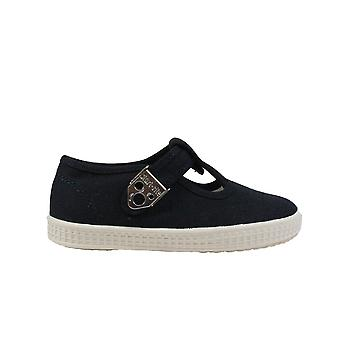 Startrite Wells Navy Canvas Unisex T Bar Shoes