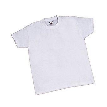 Vinco 122-128 cm Children's Blank T-Shirt - White (42115)