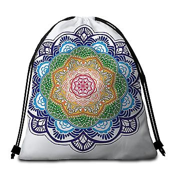 Toalla de playa Simple Multi Color Mandala