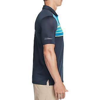Skechers Golf Herren Backspin Streifen DNA Dry Stretch Performance Polo Shirt