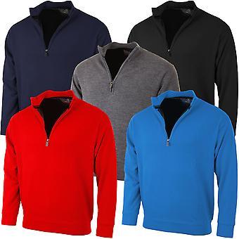Proquip Golf Mens PQ Lined Half Zip Merino Sweater