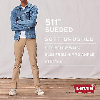 Levi ' s Boys ' Big 511 Slim Fit mjuk borstad byxa, svart, 14