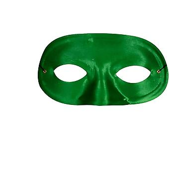 Half Domino Mask Green For Adults