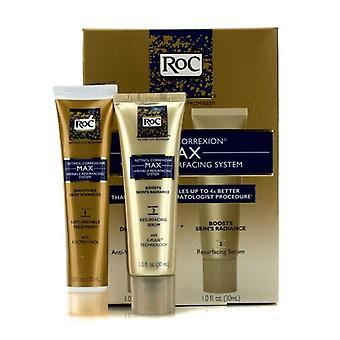 Roc Retinol Correxion Max Wrinkle Resurfacing System: Anti-wrinkle Treatment 30ml + Resurfacing Serum 30ml - 2pcs
