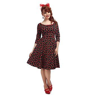 Collectif Vintage vrouwen ' s Willow kleine kersen jurk