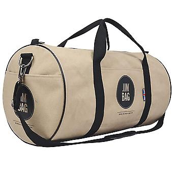 Camel & Black Holdall Bag