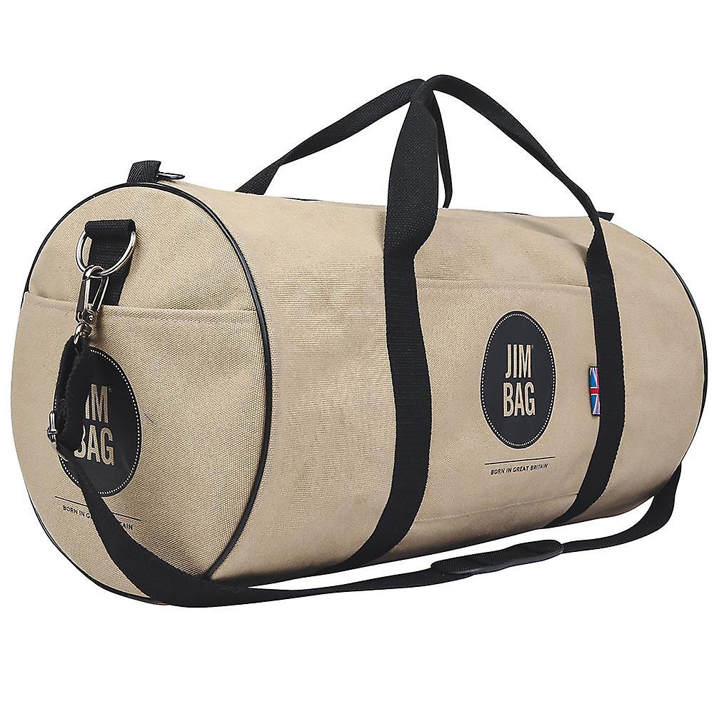 JIMBAG Camel & Black Holdall Sports Fitness Gym Overnight Weekend Travel Bag with Handle & Shoulder Strap