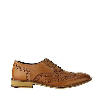 Jipes couro Mens Brogue Oxford sapatos