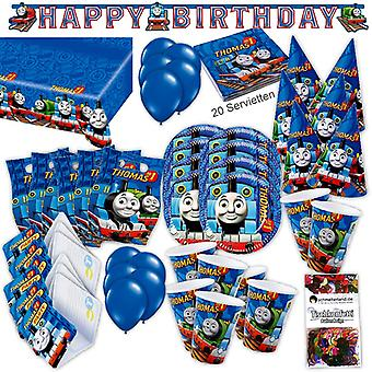 Thomas locomotive party set 63-teilig for 6 guests railway party package