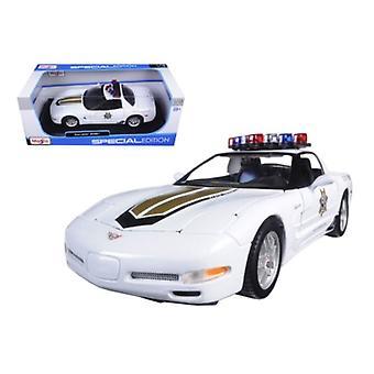 Chevrolet Corvette C5 Z06 Police 1/18 Diecast Model Car By Maisto
