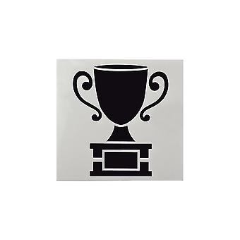 Estrela do bolo - Stencil do troféu