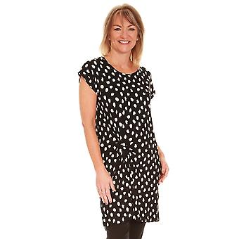MASAI CLOTHING Masai Black And Cream Spot Tunic Hanna 1000340