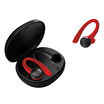 Caletop Sport TWS Wireless Smart Touch Control Fones Bluetooth 5.0 Air Wireless Pods Earfones Earbuds 400mAh Red