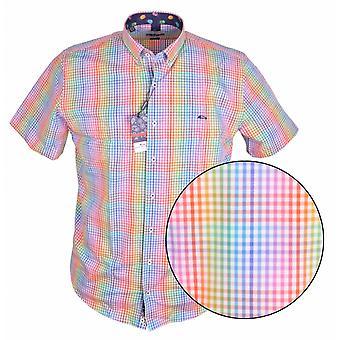 DARIO BELTRAN Dario Beltran Multi Colour Check Short Sleeve Shirt