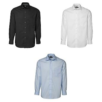 ID Mens Easy Iron Exclusive Poplin Regular Fitting Long Sleeve Shirt