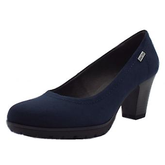 JAN 22440 Taurus Wide Fit Smart-casual Janatex Court Shoes In Navy