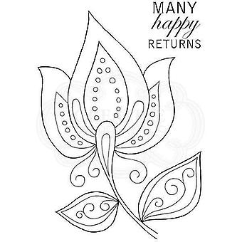 Woodware Clear Stamp Set - Bold Blooms Ursula