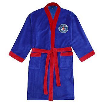PSG Official Football Gift Mens Fleece Dressing Gown Robe