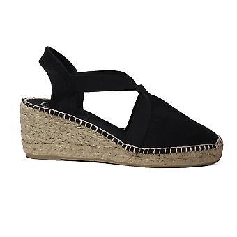 Toni Pons Ter Black Fabric Womens Slingback Espadrille Sandals