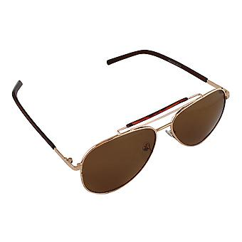Men's sunglasses and Sunglasses Women's Polaroid Pilot - Gold/Brown with free brillenkokerS310_3