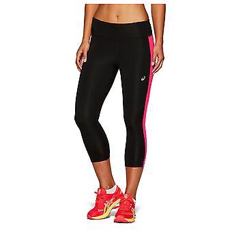 Asics Womens Ladies Running Fitness Training Capri Tight Black/Pink