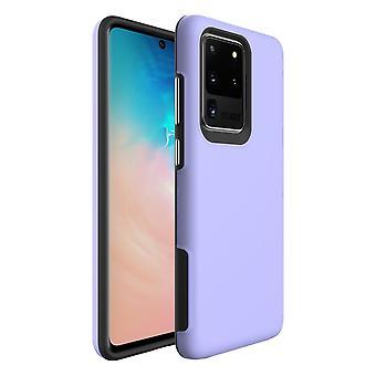 Para Samsung Galaxy S20 Ultra Caso A prueba de golpes Cubierta protectora púrpura