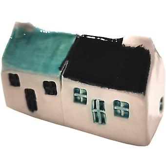 Wee Semi-detached Bothies Seamist & Black by Glenshee Pottery