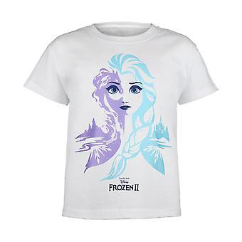Disney Frosne 2 Dronning Elsa Piger T-shirt | Officielle Merchandise