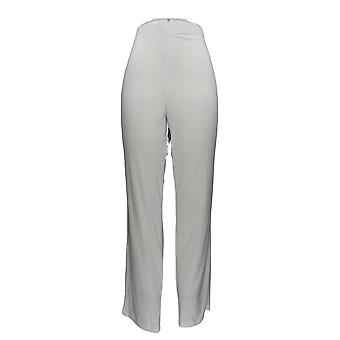 Serengeti Women's Pants Liquid Knit Straight Leg White