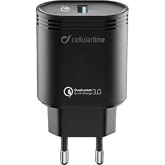 Cellularline ACHHUUSBQCK 39237 USB-lader aansluiting Max. uitgang 3000 mA 1 x USB 3.0 poort A