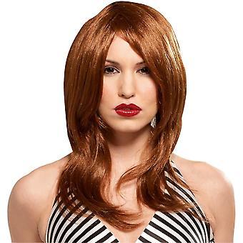 Glamour tyttö punainen peruukki naisille