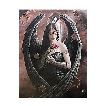 Anne Stokes Angel Rose Canvas Plaque
