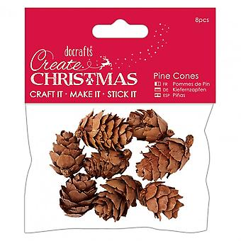 Docrafts Create Christmas Pine Cones (8pcs) – Small