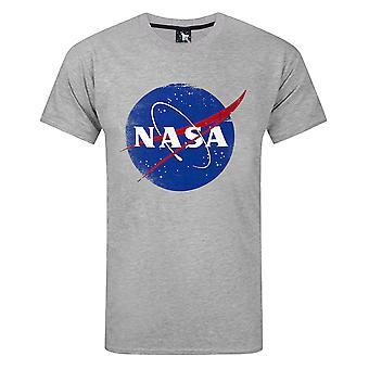 Nasa Space Distressed Logo Menn's T-skjorte