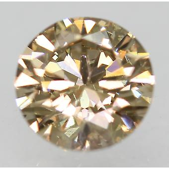 Cert 0.50 Carat Natural Fancy Brown VVS2 Round Brilliant Natural Diamond 5.06mm