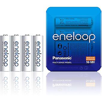 Panasonic eneloop AA Rechargeable Ready-To-Use Ni-MH Batteries, Pack of 4 (BK-3MCCE/4LE)