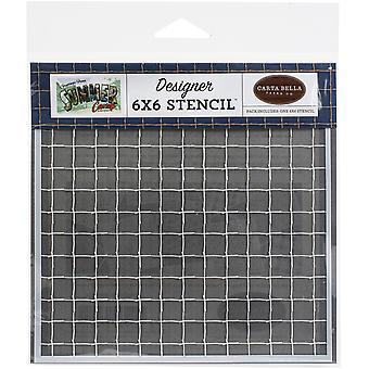 Carta Bella Stick Grid 6x6 tommer Stencil