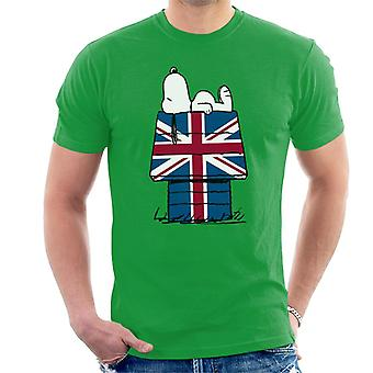Erdnüsse Union Jack Hut Snoopy Men's T-Shirt