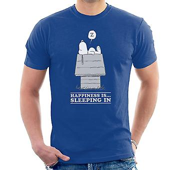 Peanuts Happiness Is Sleeping In Snoopy Men's T-Shirt