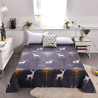 Floral Series Flat Bed Sheet And Pillowcase - Soft Breathable Double Bed
