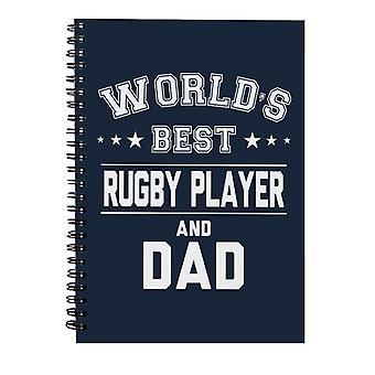 Verdens beste rugbyspiller og pappa Spiral Notebook